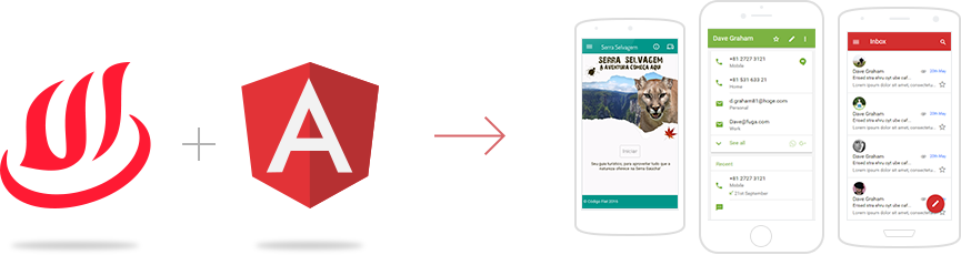Angular and AngularJS UI Components by Onsen UI Hybrid Mobile App